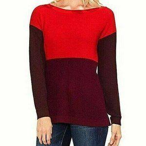 Vince Camuto Color Block Crew Neck Sweater…